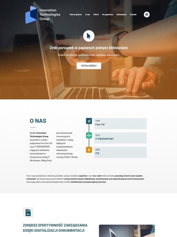 %Strony internetowe WordPress Strona internetowa typu One Pager